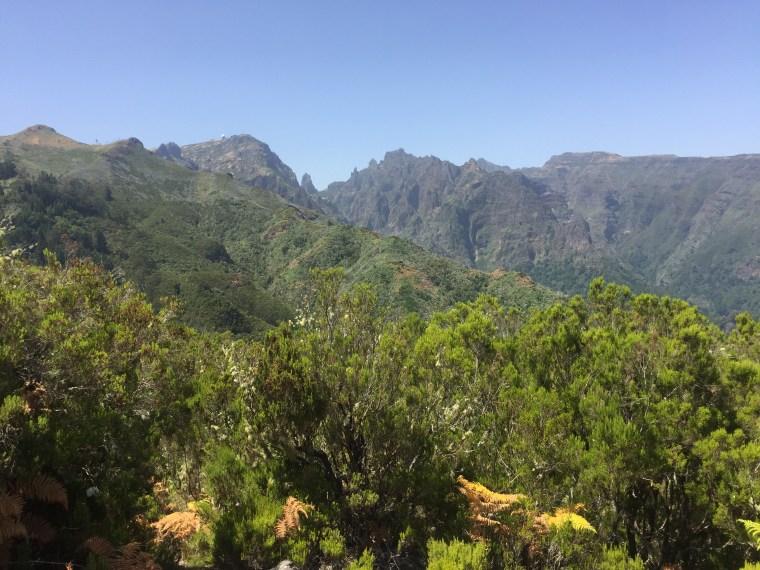 sommets plateau Feiteiras Baixo Ribeiro Frio Madère