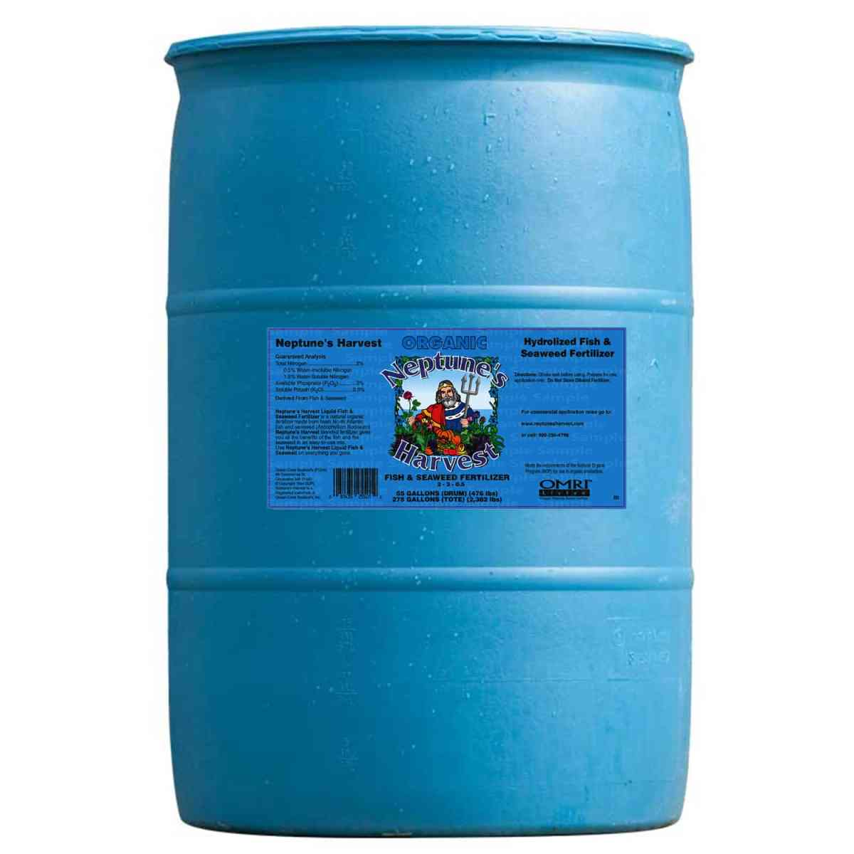 55 gallon barrel fish seaweed fertilizer