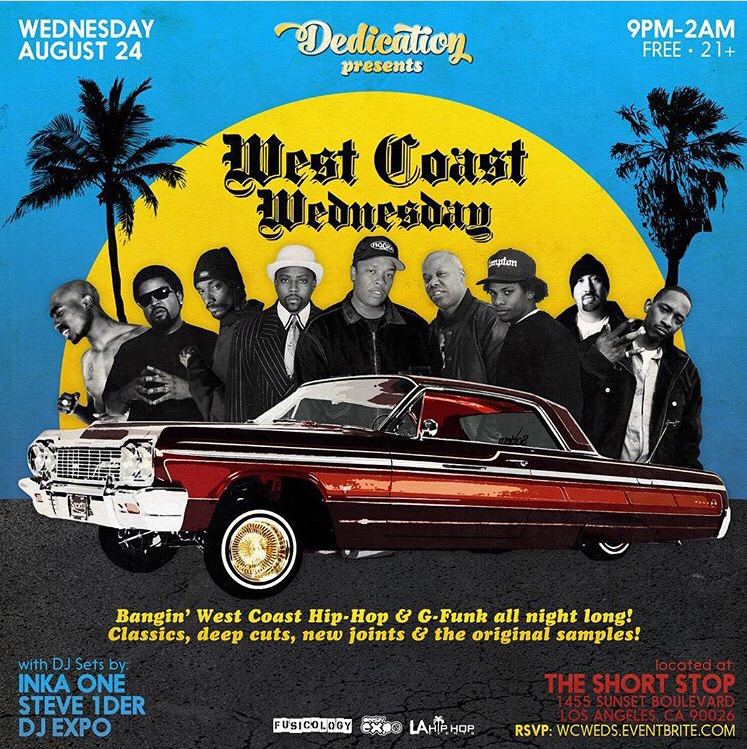 WEST COAST WEDNESDAY @ THE SHORT STOP | LA HIP HOP EVENTS