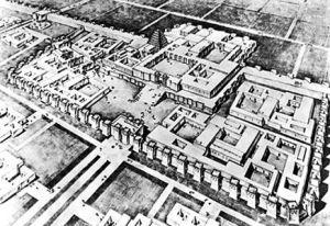 Reconstrucción hipotética de la ciudad de Dur Sharrukin