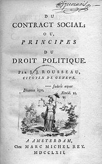 Contrato Social de Rousseau
