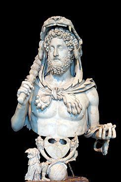 Cómodo representado como Hércules