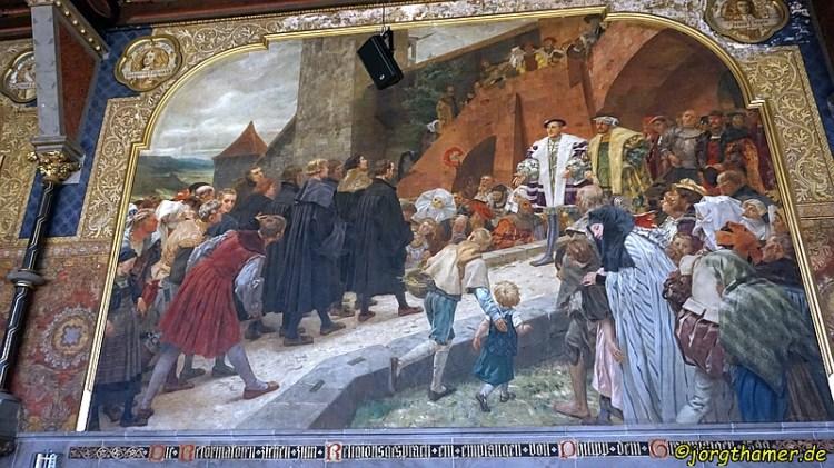 """Die """"Reformatoren"""" werden von Landgraf Phillip empfangen"""