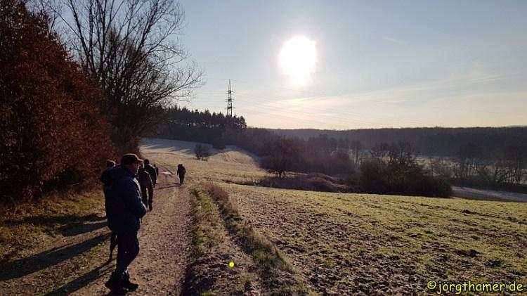 IVV-Wandertag Limburg - Raureif auf den Feldern