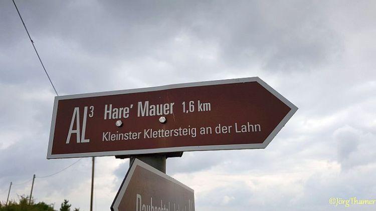 Hare Mauer - kleinster Klettersteig an der Lahn