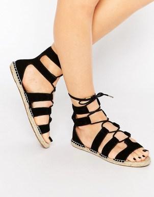 New Look - Sandales lacées style espadrilles - 25,99 €