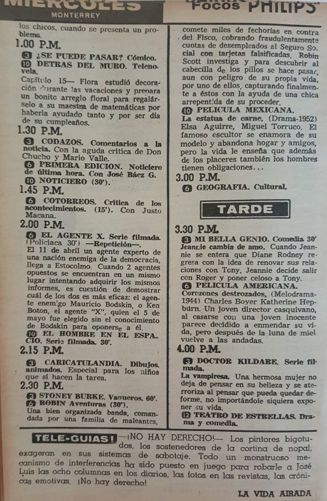 Revista Tele Guía 26 de febrero de 1968 - Parte 4/5