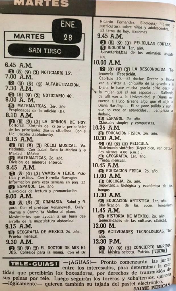 Revista Tele Guía 23 de enero de 1969 - Parte 4/8