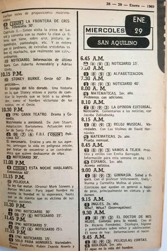 Revista Tele Guía 23 de enero de 1969 - Parte 5/8