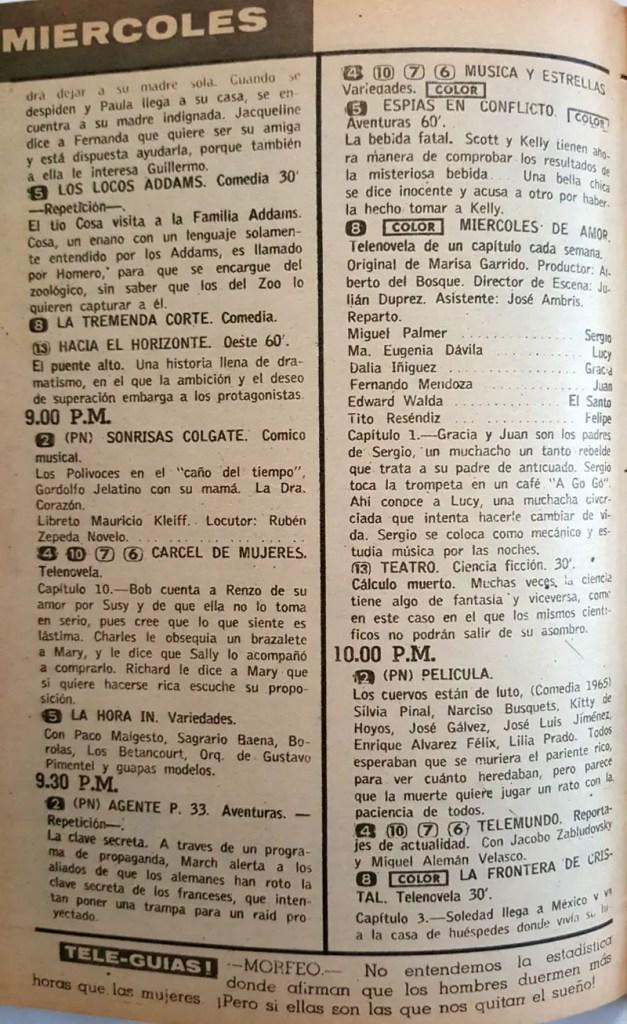 Revista Tele Guía 23 de enero de 1969 - Parte 6/8