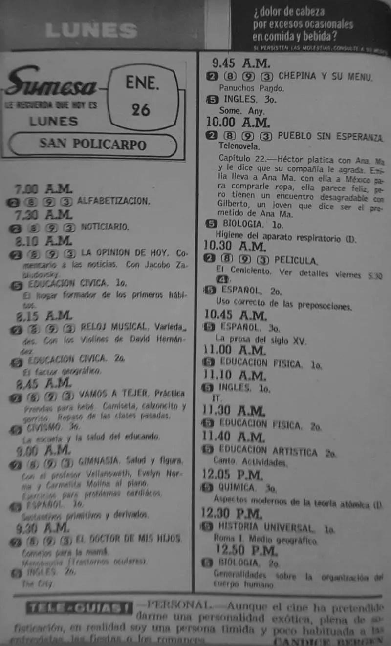 Revista Tele Guía 22 de enero de 1970 - Parte 3/6