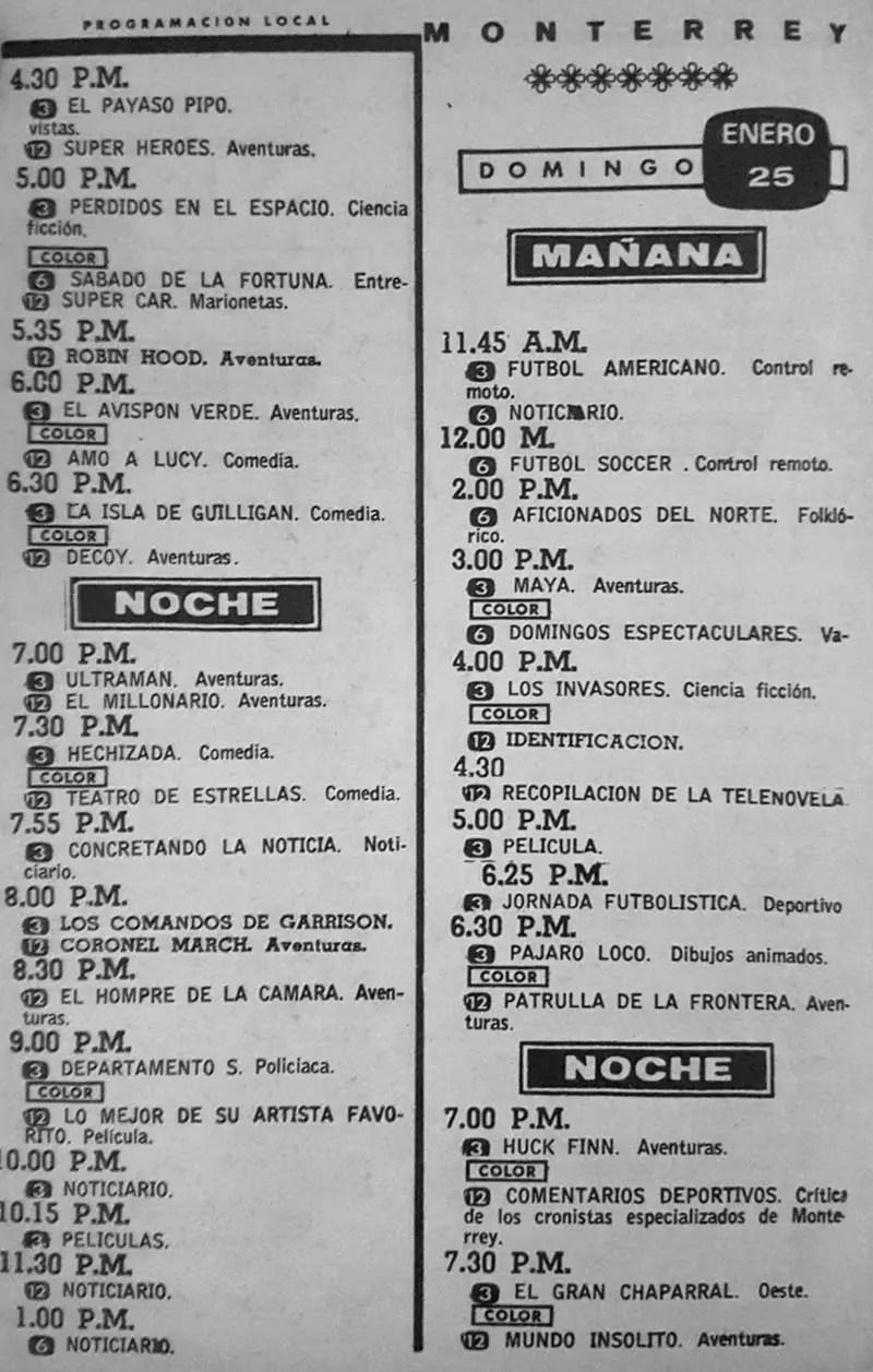 41-revista teleguia enero 1970 el gran chaparral hechizada monterrey
