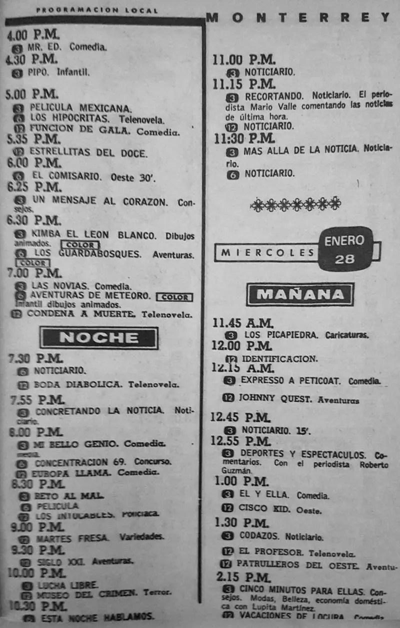 44-revista teleguia enero 1970  kimba boda diabolica reto al mal martes fresa
