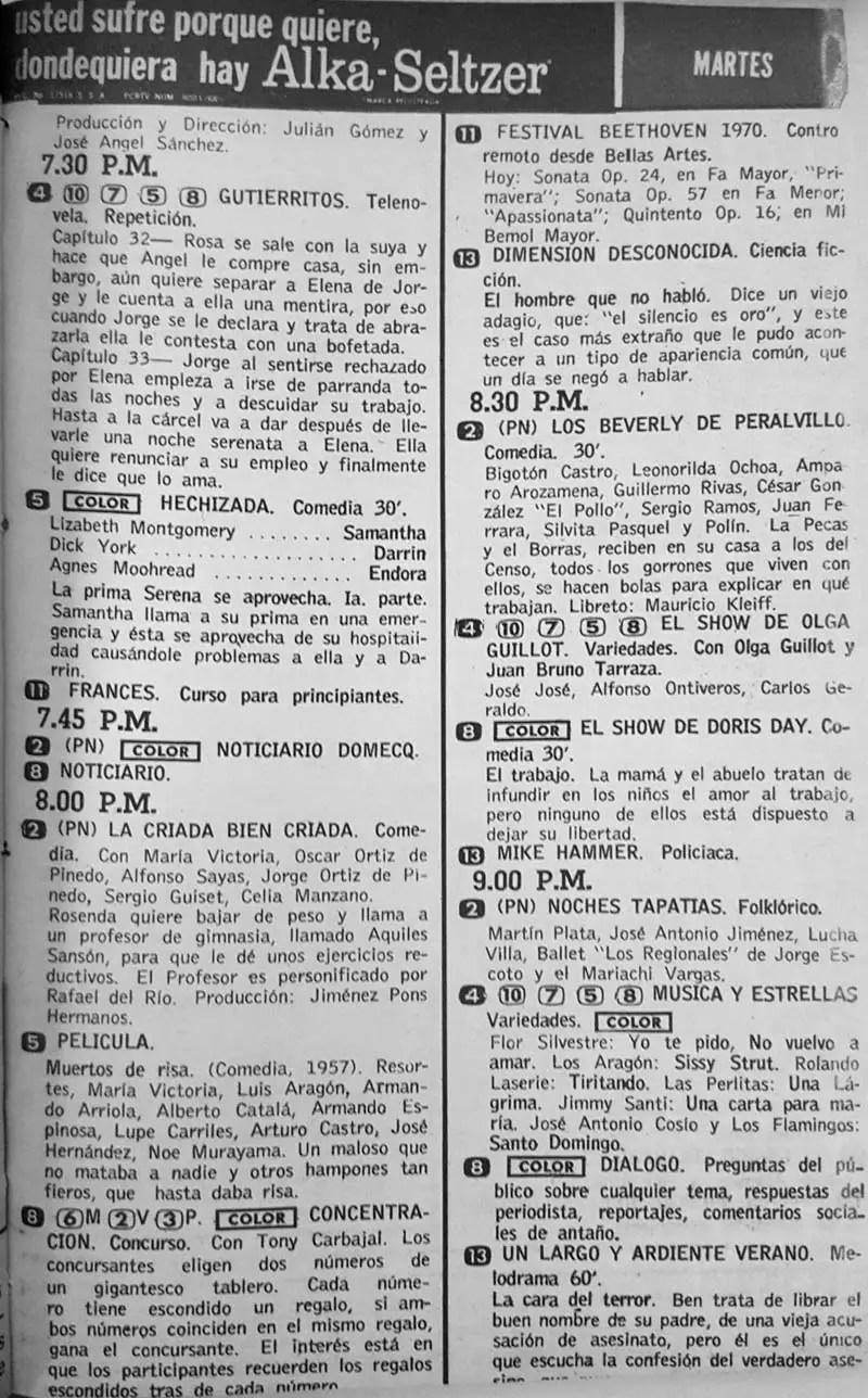Revista Tele Guía 22 de enero de 1970 - Parte 4/6