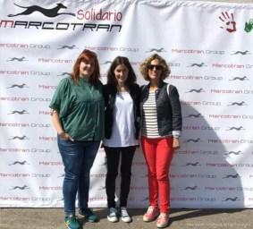 Isa, Paula y Bea, de la Asociación Solidaria La Hora Violeta