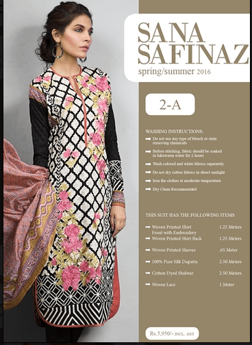Sana Safinaz Lawn Summer Collection 2016-2