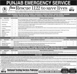 Punjab Emergency Service Rescue 1122 Jobs Recruitment Test Last Day is 28 June 2016 Apply