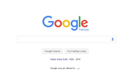Google Tribute To Abdul Sattar Edhi