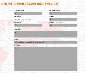 Register Online Cyber Crime Complaint Fill Form NR3C Pakistan