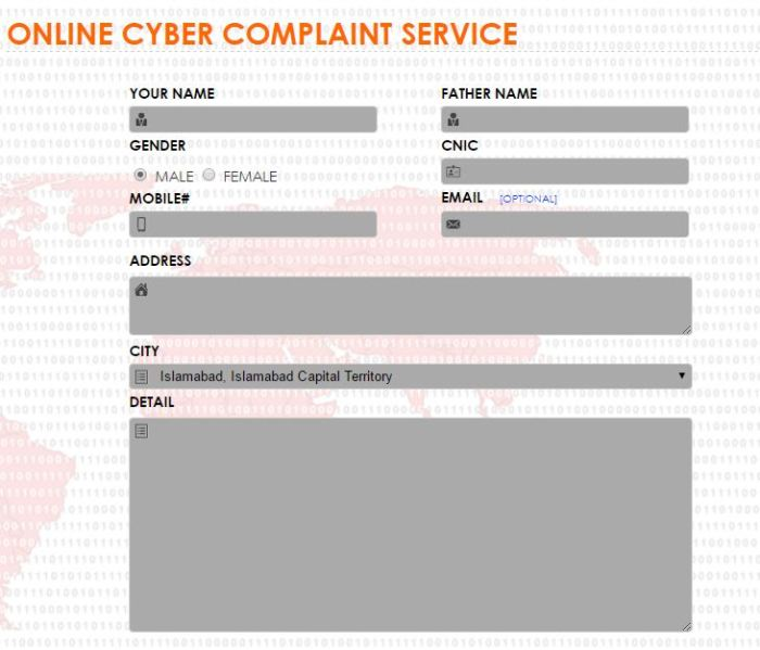 Register Online Cyber Crime Complaint