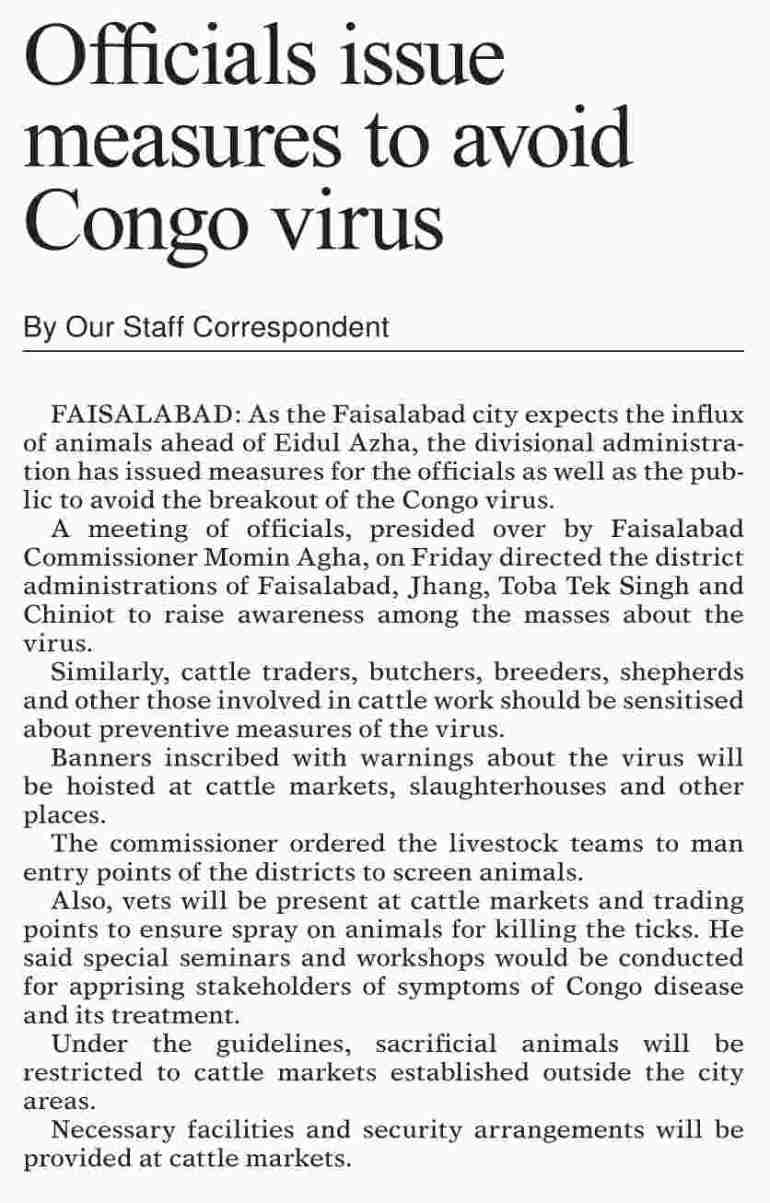 Congo Virus Ways To Protect