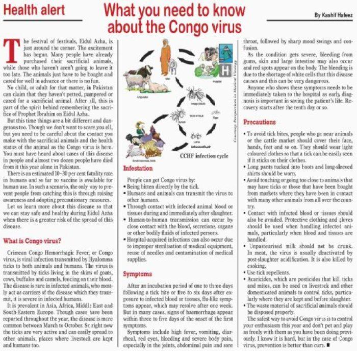 Congo Virus What Infestation Symptoms Precautions Pakistan