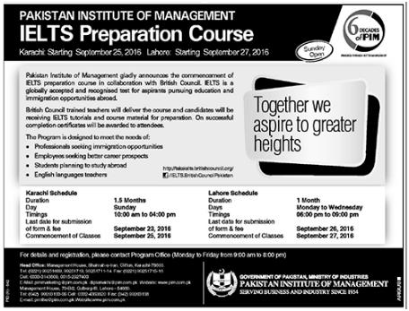 IELTS Preparation Course In Lahore Pakistan Institute Of Management