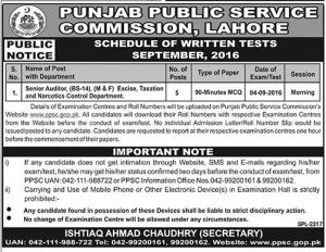 PPSC Lahore Senior Auditor Written Test Result 2017 After Exam Date Auditing Field