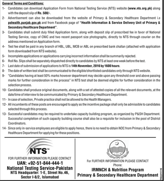 general-terms-and-conditions-for-govt-of-punjab-primary-secondary-health-care-department-dist-coordinator-test