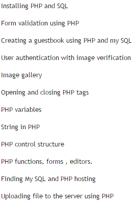 php-certificate-course-subject-in-php-training