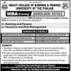 MBA Evening Program In Lahore 2017 Banking And Finance Insurance Risk Management