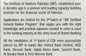 IBP Certified General Banker Program CGB Batch 2 Written Test Result 2017