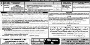 PPSC Stenographer Jobs 2017 Planning Development Lahore BS14 Age Posting Place Syllabus