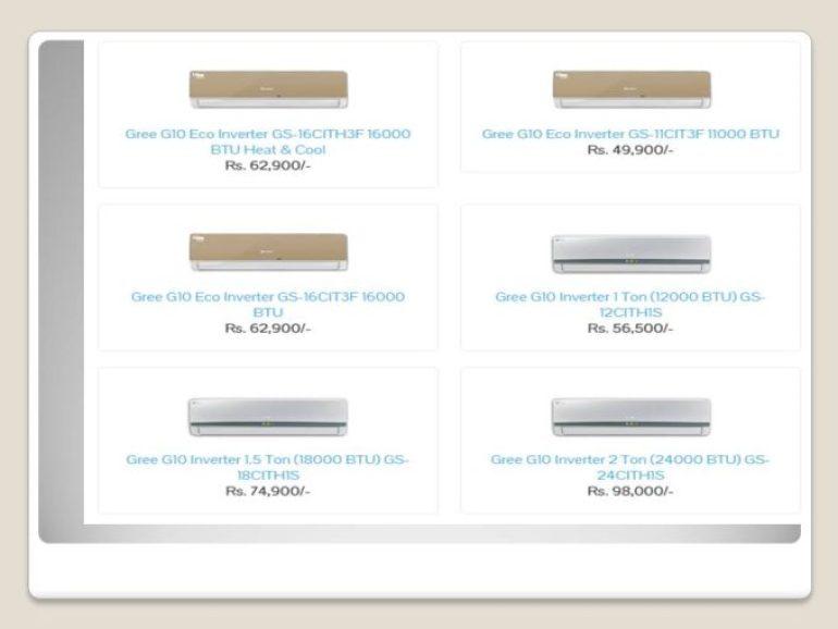 Gree DC Inverter AC Price In Pakistan