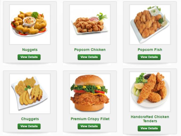 Menu Products Price List In Pakistan