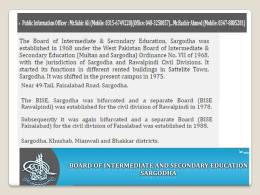 SSC Part 1 Result 2017 Sargodha Board By Name Search, Roll Number, Institute, School Code