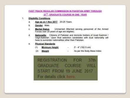 Join Pakistan Army Through Graduate Course Registration