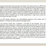 UHS MCAT Affidavit Entry Test Specimen Form For MDCAT Admission