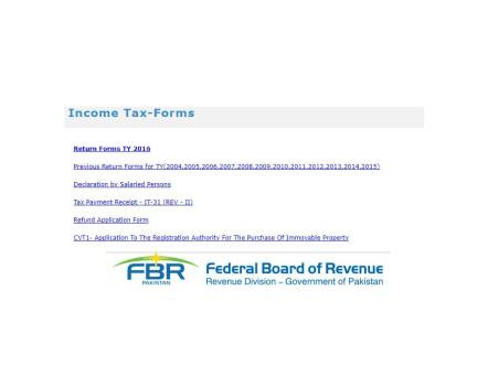 Income Tax Return Salaried Person Pakistan Form Download