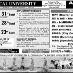 Pharm D Admission 2017 Karachi Baqai Medical University