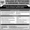 MCPS Admission In Karachi 2017 College Of Physicians Surgeons Pakistan