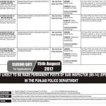 PPSC Sub Inspector Jobs 2017 Punjab Police Department Lahore Region Sheikhupura, Gujranwala, Sargodha Others