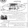 Govt Fatima Jinnah College Chuna Mandi Lahore BS Hons Admission 2017 Form