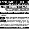 Punjab University PU Lahore Post Graduate Diploma In Applied Economics Admission 2017-18 Form Online Date