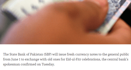 How To Get Fresh Notes From Banks For Eid In Lahore