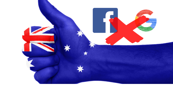 google and facebook ban in australia