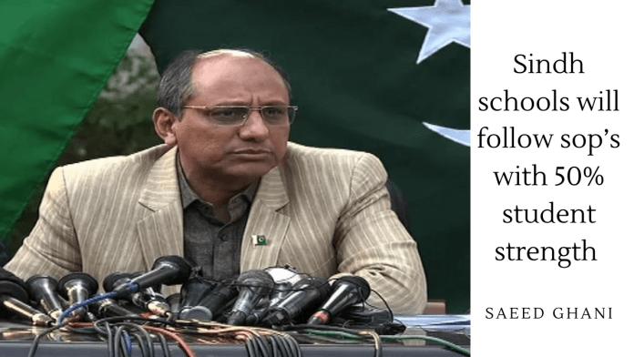Sindh schools SOPs