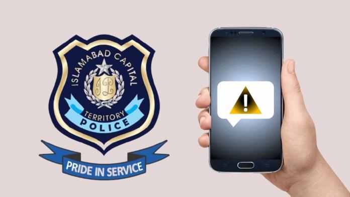 Islamabad Police SMS warnings