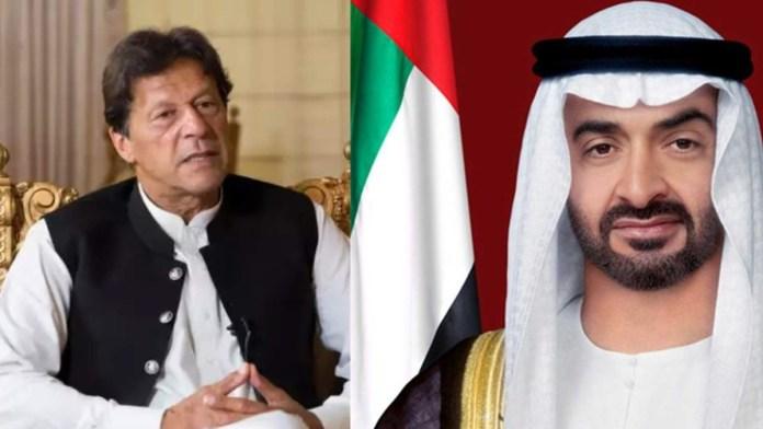 Imran khan and UAE's Sheikh Mohamed