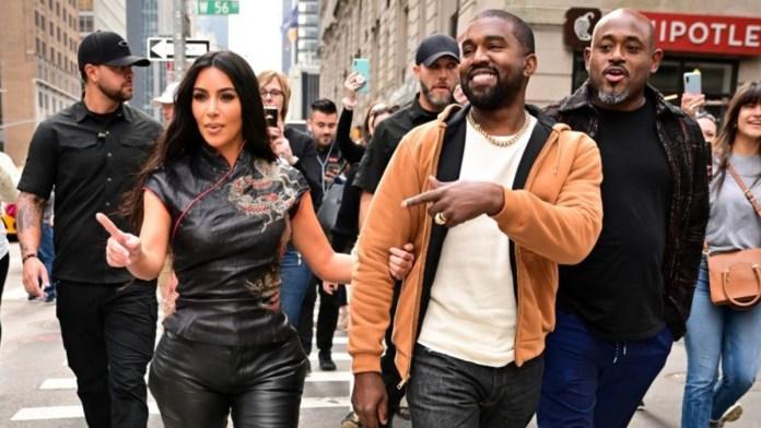Kanye West with kim
